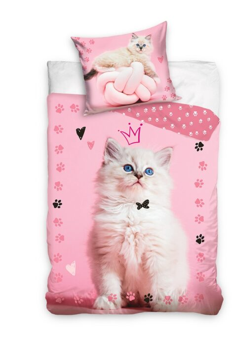 Dream Kitty puuvillane voodipesukomplekt kassiga