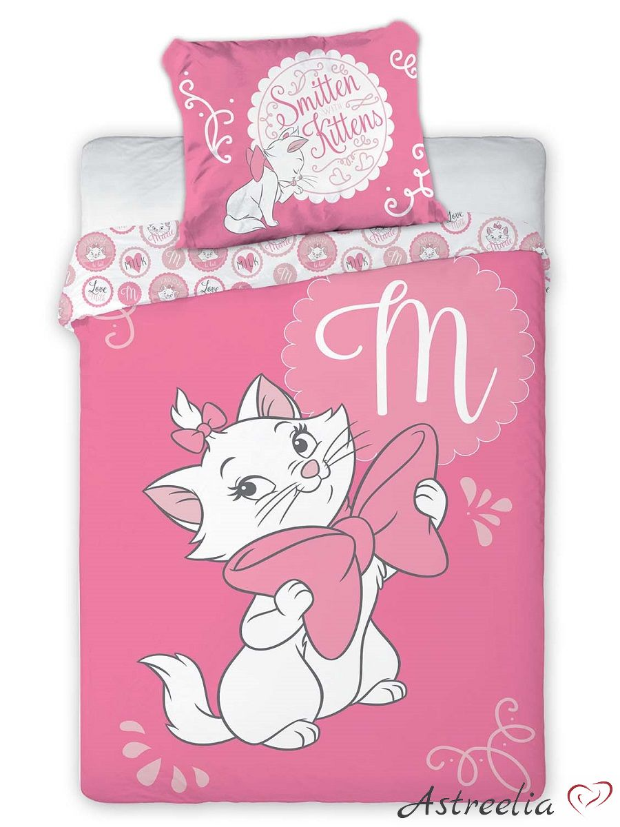 Kass Marie Disney puuvillane voodipesukomplekt lastele 135x200 cm