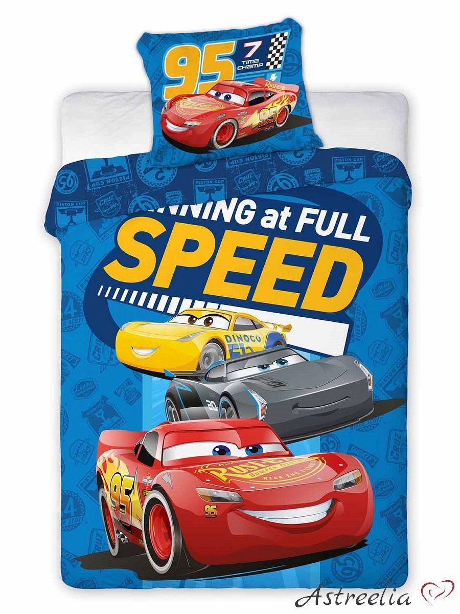 Disney puuvillane laste voodipesukomplekt 100x135 cm Cars 3