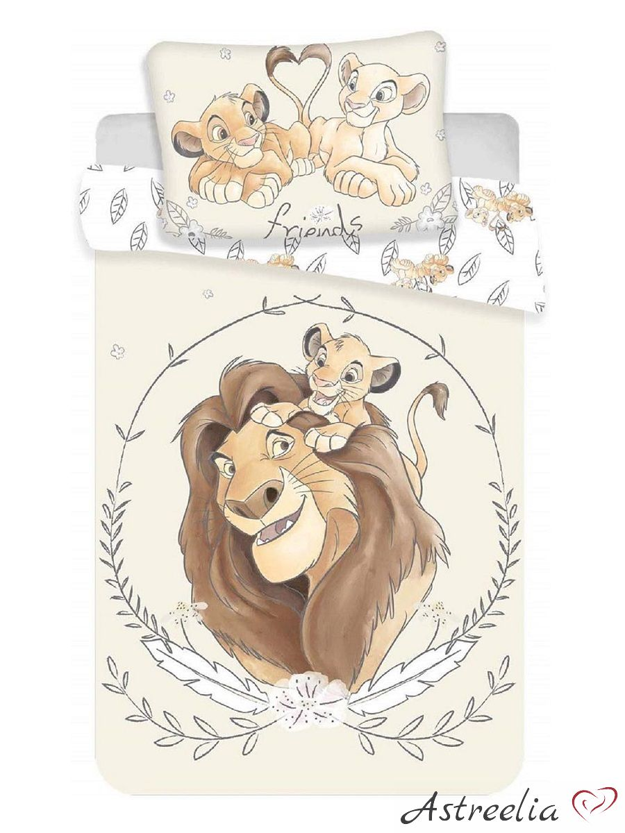 Disney puuvillane laste voodipesukomplekt 100x135 cm Lion King