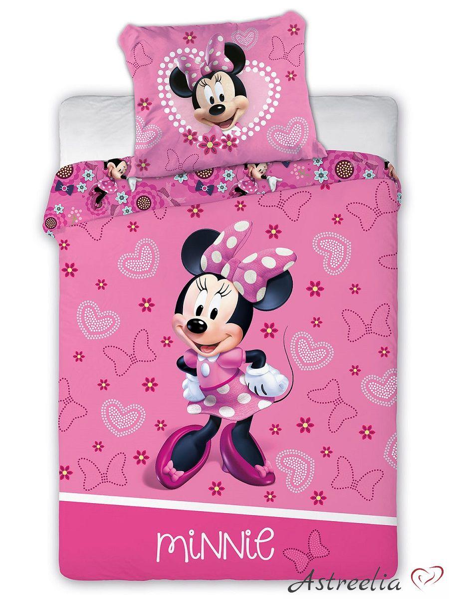 Disney Puuvillane laste voodipesukomplekt 100x135 cm Minnie Mouse
