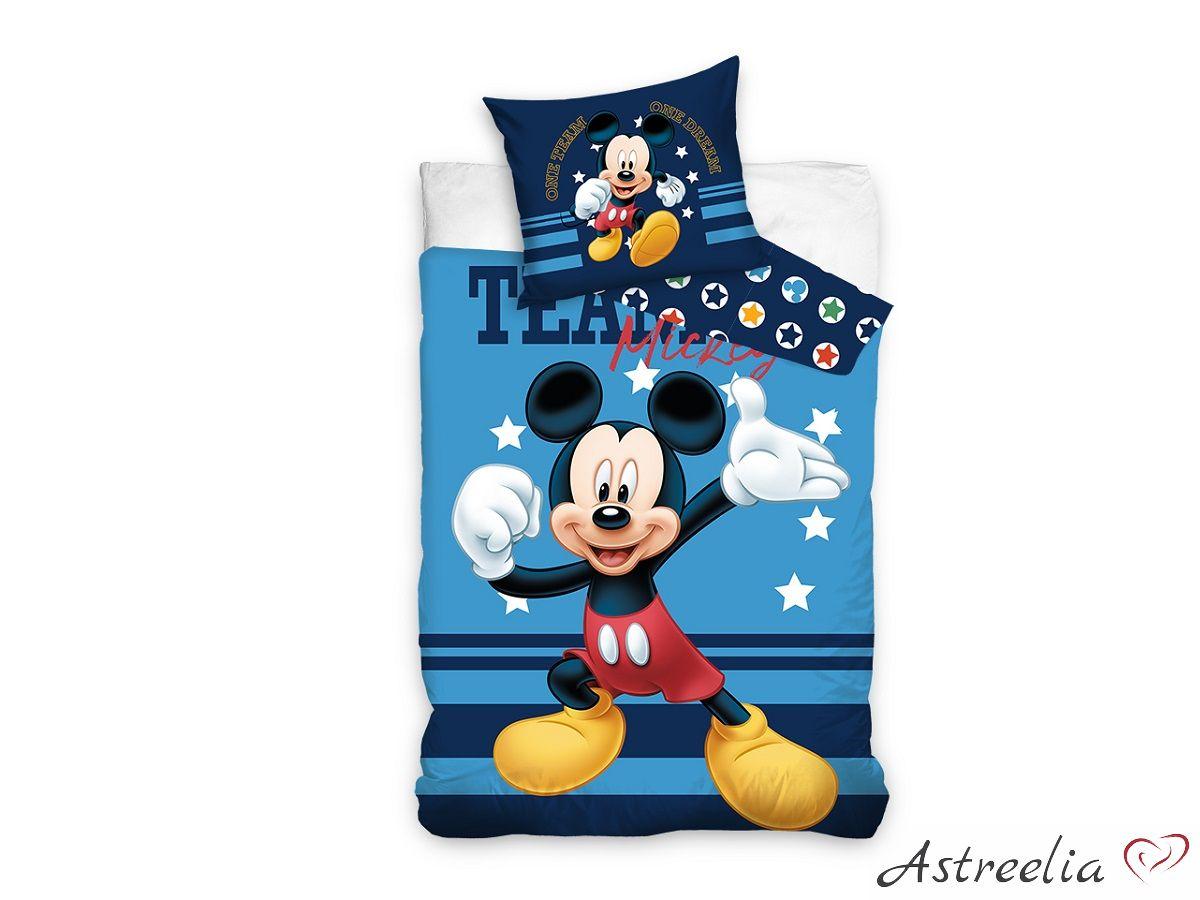 Puuvillane laste voodipesukomplekt 140×200 cm - Team Mickey