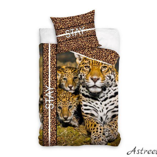 Puuvillane laste voodipesukomplekt 160×200 cm - Leopards