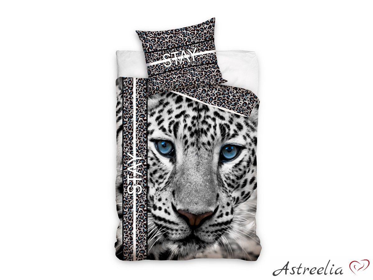 Puuvillane laste voodipesukomplekt 160×200 cm - White panther
