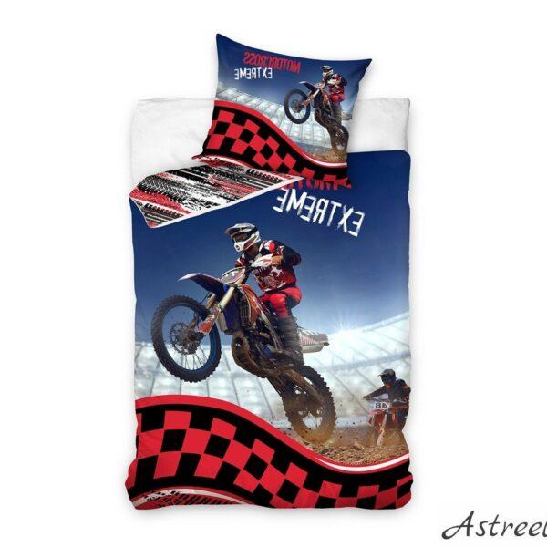 Puuvillane laste voodipesukomplekt 160×200 cm - Motorcross
